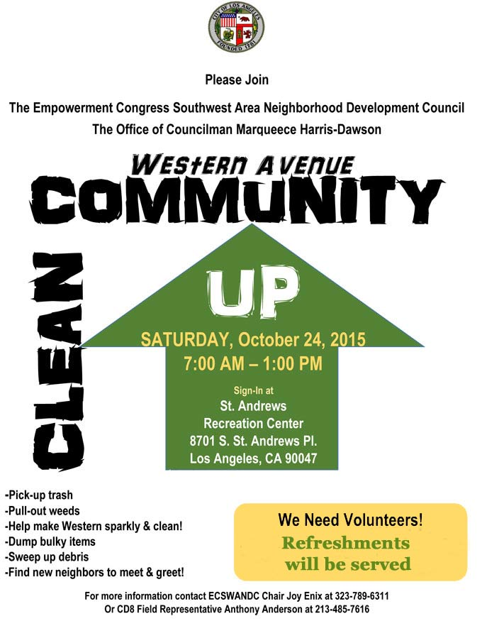 Western Avenue Community Clean Up: Register to Volunteer!