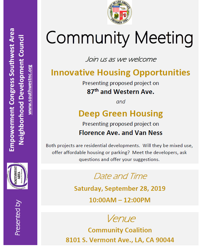 Community Meeting with Housing Developers