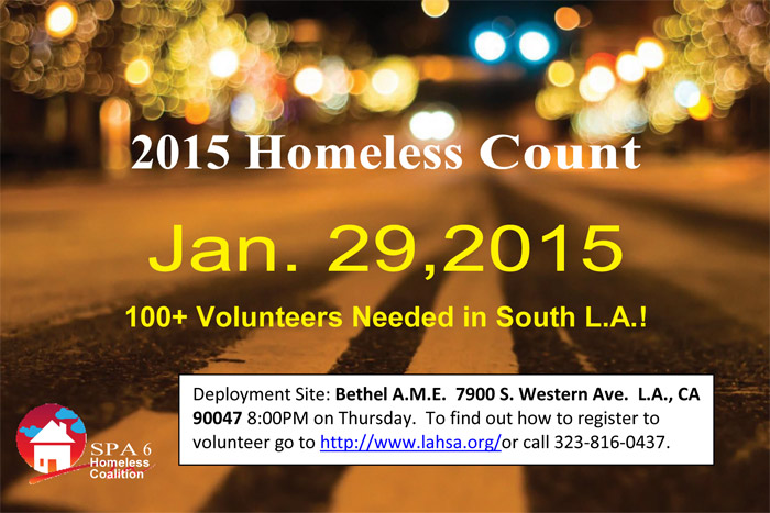 Volunteer to Help Count the Homeless January 29