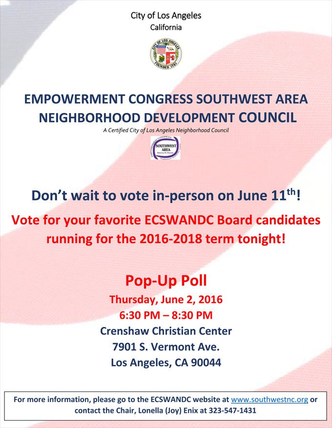 Vote at our Pop Up Poll June 2