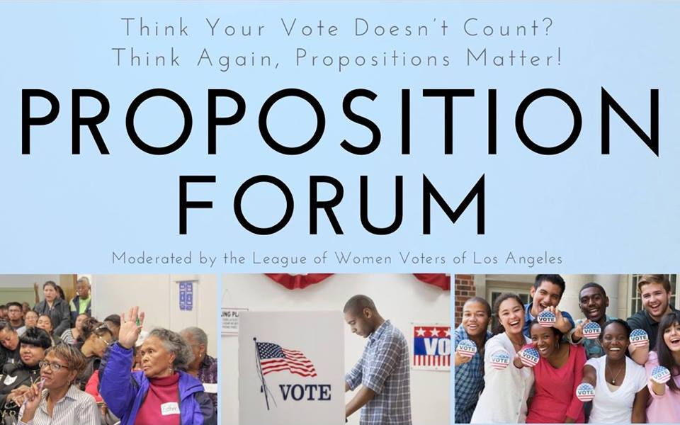 Proposition Forum: Time to Get Informed
