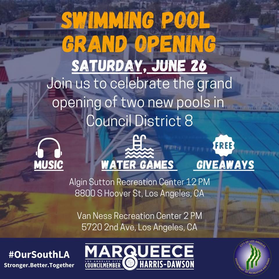 pool opening june 26