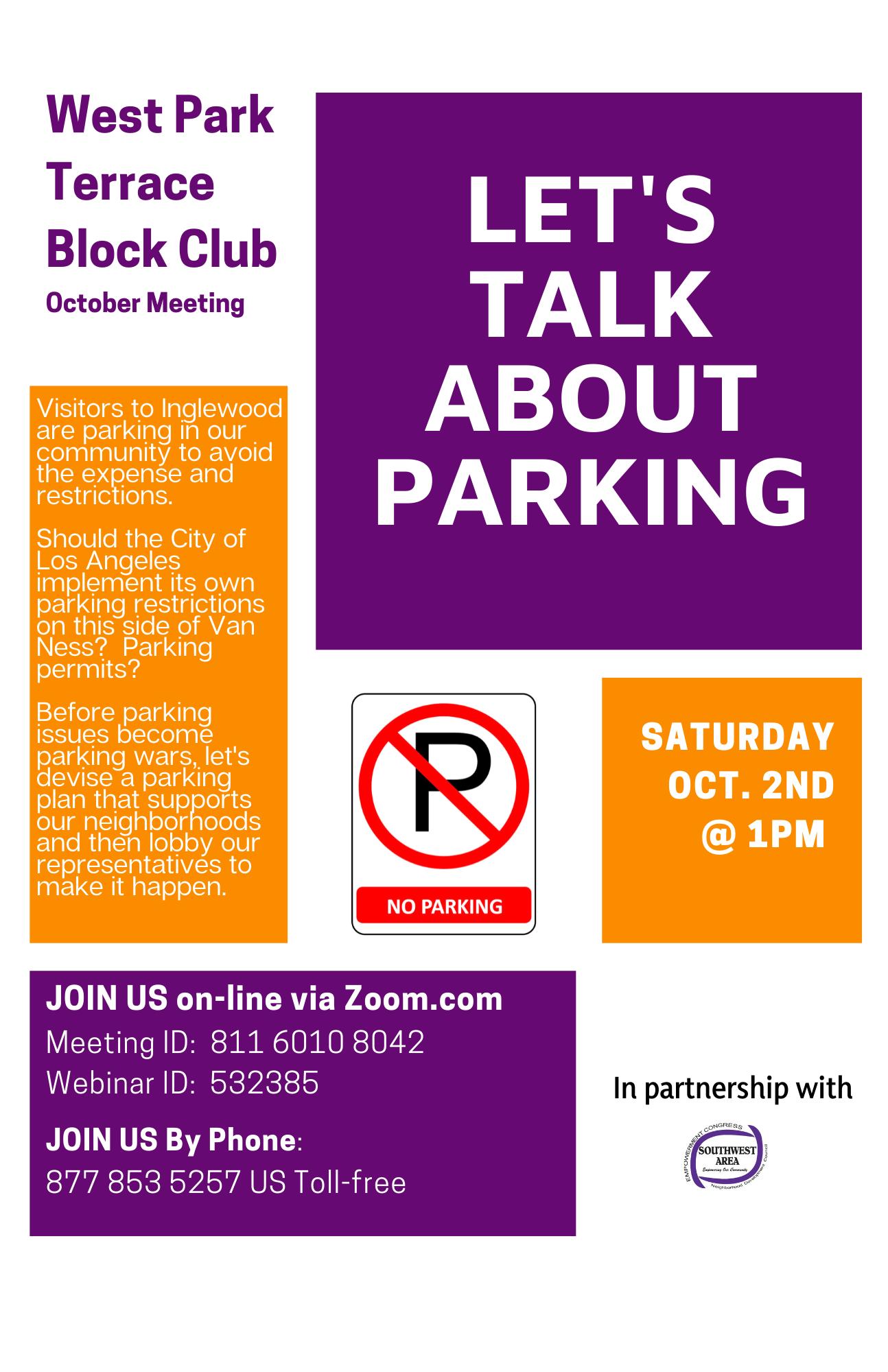 Let's Talk About Parking